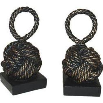Bronze Iron Rope Knot Bookends