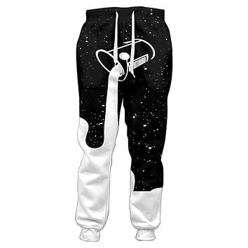Joggers Pants Men Pouring Into The Starry Night Sky To Fill Up The Galaxy Glass Of Milk 3d Print Sweatpants Casual Trousers