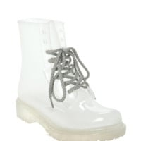 Clear Combat Boot