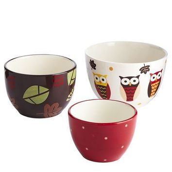 Owl Prep Bowls - Set of 3