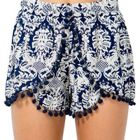 Damask Overlapping Shorts