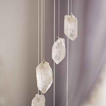 White Quartz Crystal Mobile