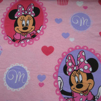 Disney Minnie Mouse Flannel Craft Fabric Pink Purple Cupcake Clean Kid Fabric Girl Fabric Destash