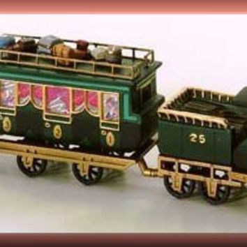 "Department 56 ""The Flying Scot"" Train Handpainted Porcelain"