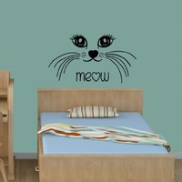 Wall Vinyl Sticker Decal Art Design Cat Baby Room Nursery Room Nice Picture Decor Hall Wall Chu768
