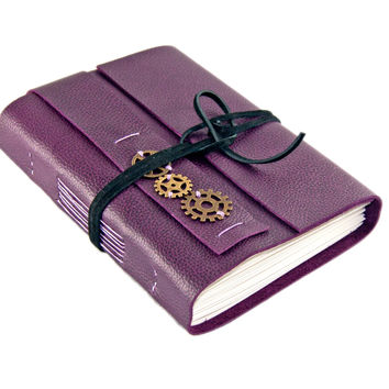 Purple Leather Journal with blank paper - Travel Journal - Diary - For Her - Prayer Journal - Ready To Ship -
