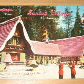 Vintage Greetings From Santa's Village Skyforest California Postcard