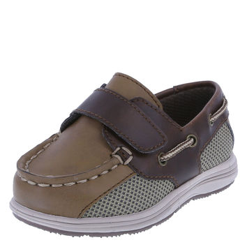 Teeny Toes Boys' Infant Benton Boat Shoe Tan 4 W US Toddler '