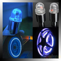 New Hot 1 Pair Motor Cycling Bike Bicycle Car Tyre Tire Valve LED Wheel Lights ( NO Battery) [8361455559]