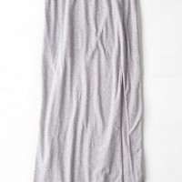 AEO 's Front Slit Maxi Skirt (Pale Pink)