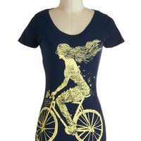 ModCloth Travel Mid-length Short Sleeves Wild Ride Tee
