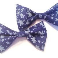 Starry Night Mini Bows (set of two)