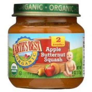 Organic Apple Butternut Squash Baby Food - Stage 2 - Case of 12 - 4 oz.