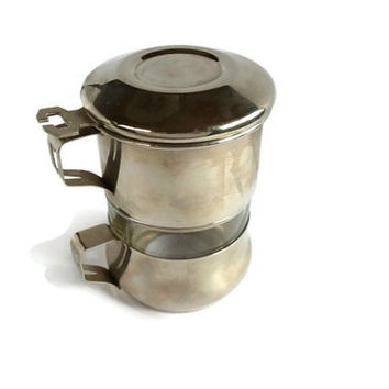 One Cup Coffee Maker With Filter : Vintage Single Cup Coffee Maker . Coffee from Majilly on Etsy