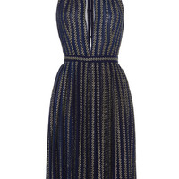 V Neck Pleated Dress by Martin Grant - Moda Operandi