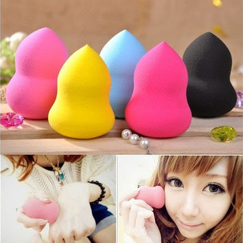 New Pro Colorful Makeup Foundation Sponge Blender Puff Flawless Smooth Beauty 1PC [8096938567]