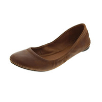 Lucky Brand Womens Emmie Leather Slip On Ballet Flats