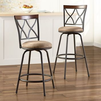 SONOMA life + style 2-pk. Shelton Adjustable Swivel Stool Set