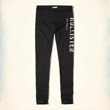 Girls Hawaii Logo Graphic Jersey Leggings | Girls New Arrivals | HollisterCo.com