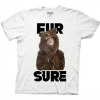 Workaholics Fur Sure Blake Sunglasses Bear Coat T-Shirt - Large