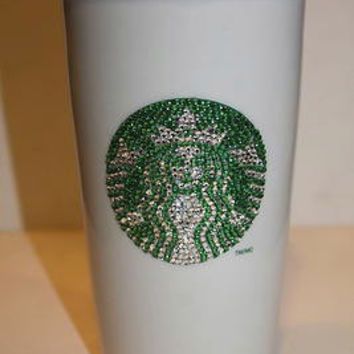 Crystal Ceramic Starbucks Travel Cup