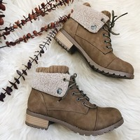 LILLY FUR BOOTS- TAN