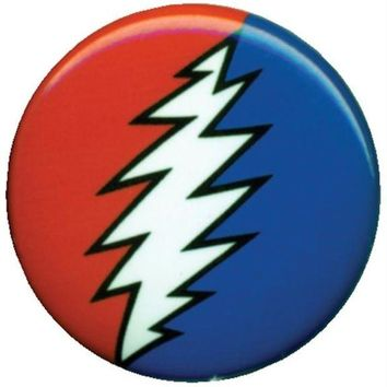 DCCK8UT Grateful Dead Lightning Bolt Button