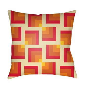 Moderne Pillow Cover - Bright Red, Butter, Bright Yellow, Bright Orange, Burnt Orange - MD085