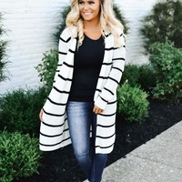 Oh So Perfect Striped Cardigan