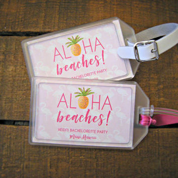 Luggage Tag Favors for Destination Weddings Bachelorette Parties , Bridal Showers , Engagement Parties , Out of Town Bags , Welcome Bags