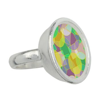 Stained glass geometric pattern photo rings