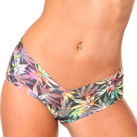 Marijuana Print BASIC BOOTY SHORT-Stripper Clothing