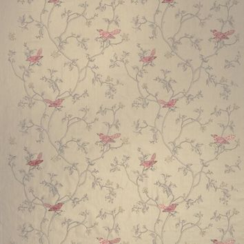 Stroheim Fabric 0650802 Dove's Toile Coral