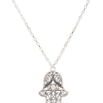 Retro Hand of Fatima Metal Necklace For Women