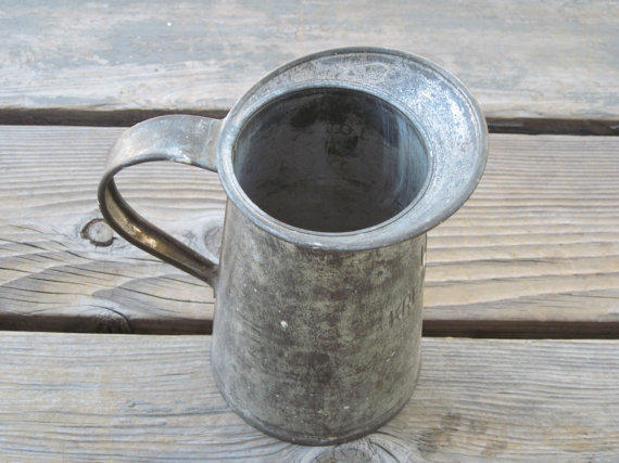 US Kreamer Inc Metal Pitcher  Vintage by PhotosPast on Etsy