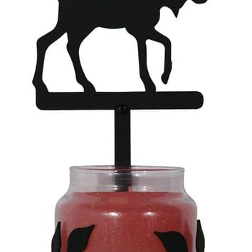 Wrought Iron Moose Sconce - Candle Holder