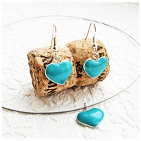 Tiny hearts earrings and pendant by IrenkaR on Etsy