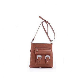 Professional Style: Roxie Dual Buckle Cross-body Bag