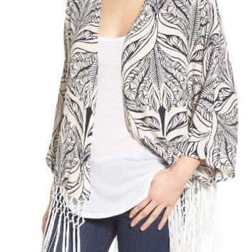 Roffe Accessories Fringe Cover-Up | Nordstrom
