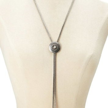 Medallion Bolo Necklace