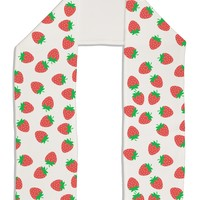 "Strawberries Everywhere Adult Fleece 64"" Scarf by TooLoud"