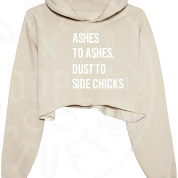 Ashes To Ashes Cropped Hoodie
