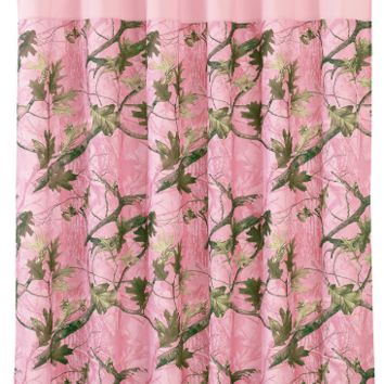 Cowgirl Kim Pink Oak Camo Shower Curtain