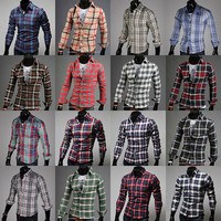 Designer Multi-Color Check Dress Shirt