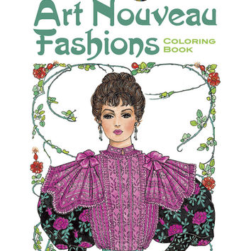 Art Nouveau Fashion Designs Adult Coloring Book