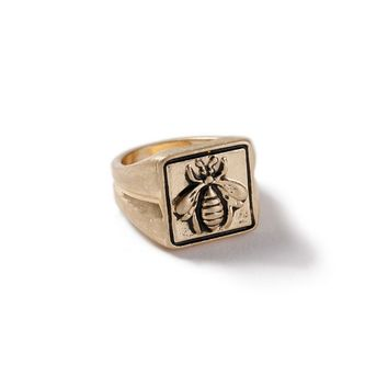 14K Gold Plated Queen Bee Statement Ring