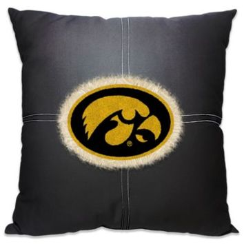 University of Iowa 18-Inch Letterman Throw Pillow