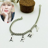ARMY Link Chain Charm Bracelets For Women Men