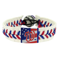 Washington Nationals Stars and Stripes Baseball Bracelet