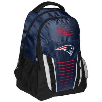 * New England Patriots Franchise Premium Backpack School Gym Bag